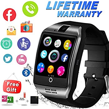 Bluetooth Smart Watch with Camera Sim Card Slot Touch Screen Smartwatch Unlocked Cell Phone Watch Sports Smart Wrist Watch for Android Phones Samsung Sony ...