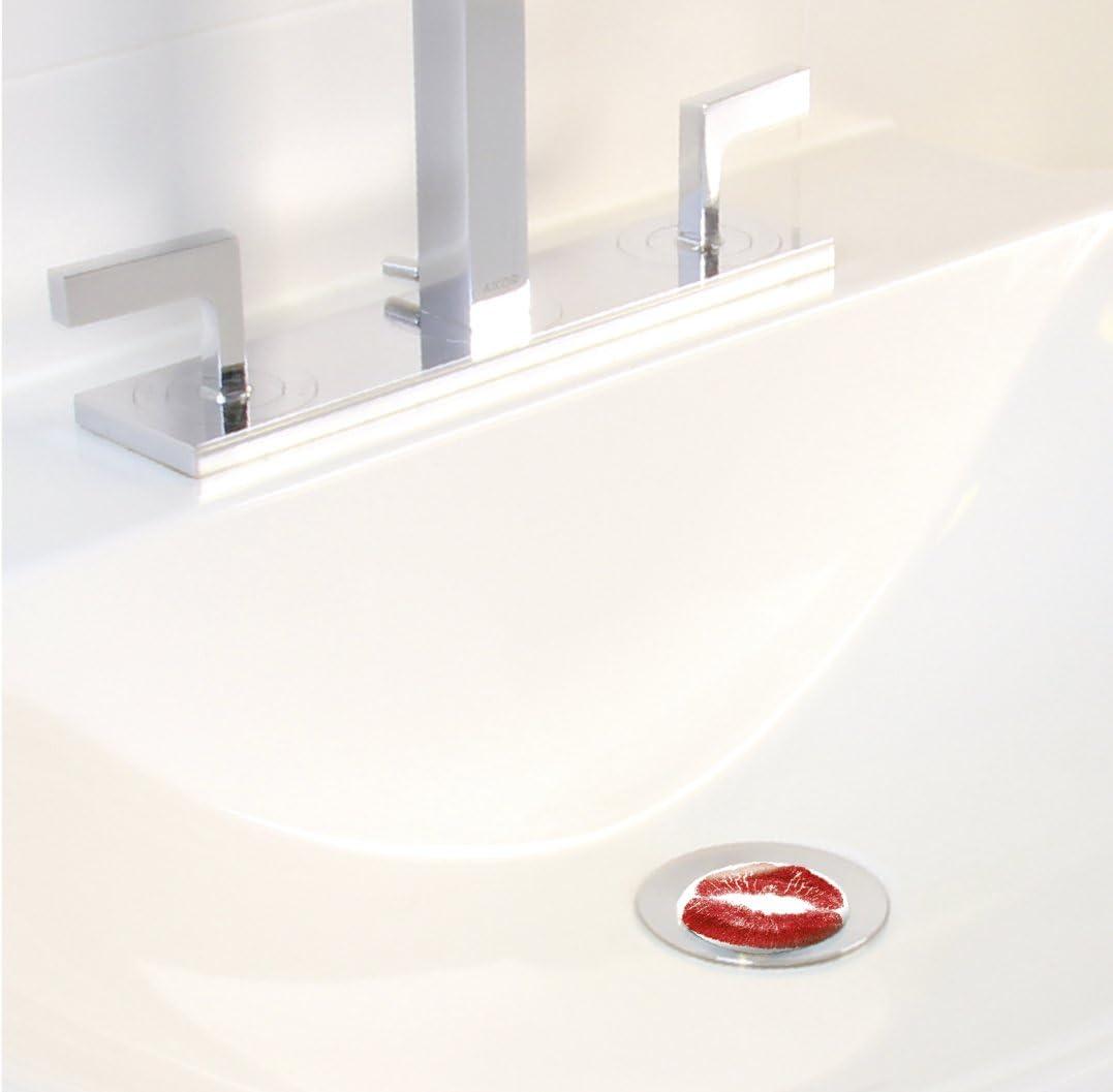 Abfluss-Stopfen WENKO 20733100 Waschbeckenst/öpsel Pluggy/® Kiss me f/ür alle handels/üblichen Abfl/üsse Mehrfarbig Kunststoff 3.9 x 6.5 x 3.9 cm