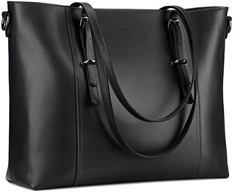 S ZONE Leather Laptop Business Shoulder