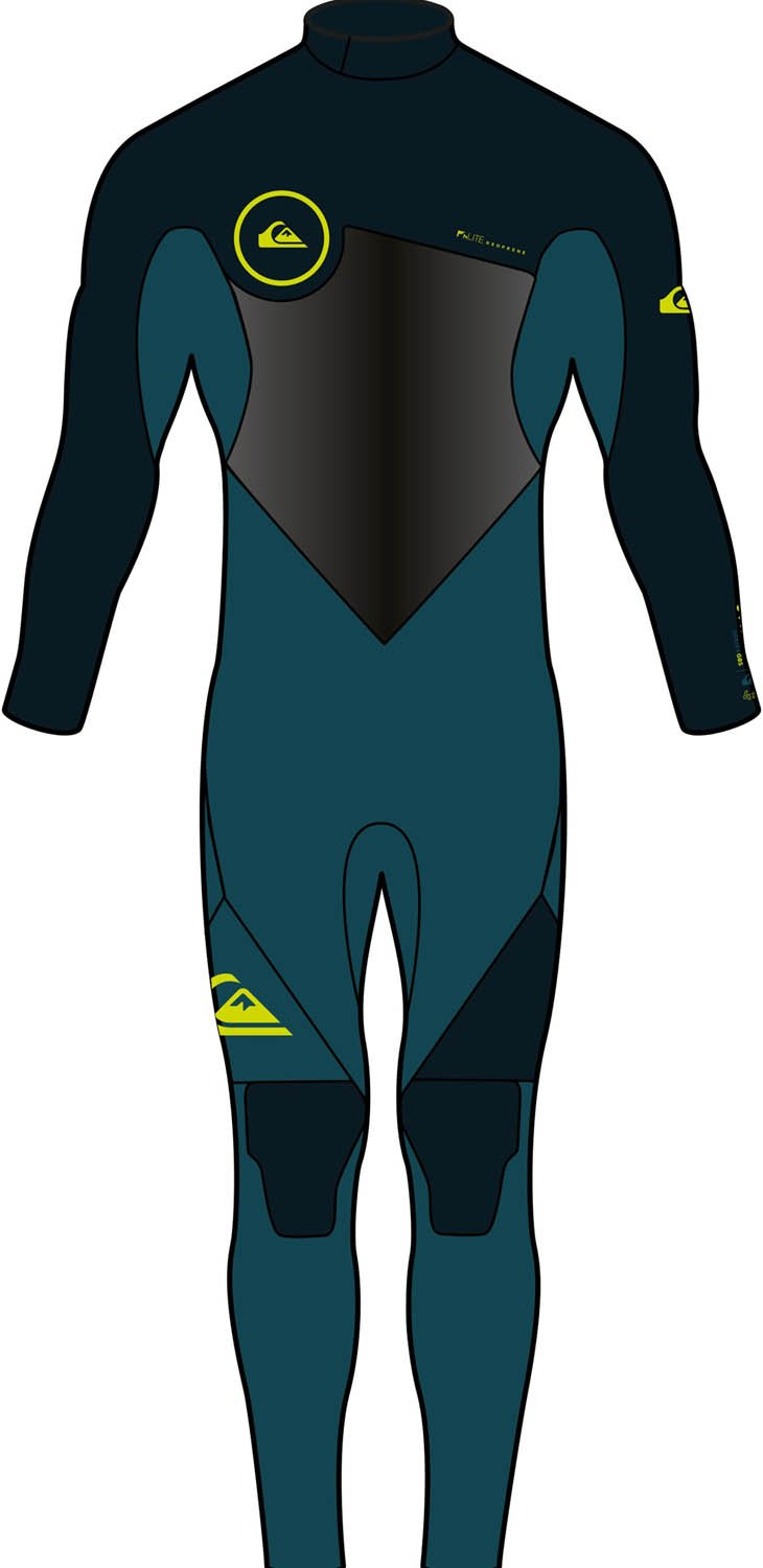 Quiksilver Boys 3/2Mm Syncro Series Back Zip Gbs - Full Wetsuit Full Wetsuit Black 16 by Quiksilver