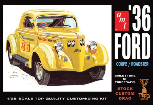 Ertl Car (AMT 1936 Ford Coupe 1/25 Scale Plastic Model Car Kit)