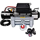 Yescom 8000 lb 12V Recovery Winch Truck Trailer ATV SUV 5.5HP Electric Towing Mount