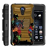 quest paintball - TurtleArmor | ZTE Uhura Case | ZTE Ultra Case | ZTE Quest Case | N817 [Hyper Shock] Armor Hybrid Hard Shell Stand Silicone Holster Belt Clip War and Military Design - Paintball War
