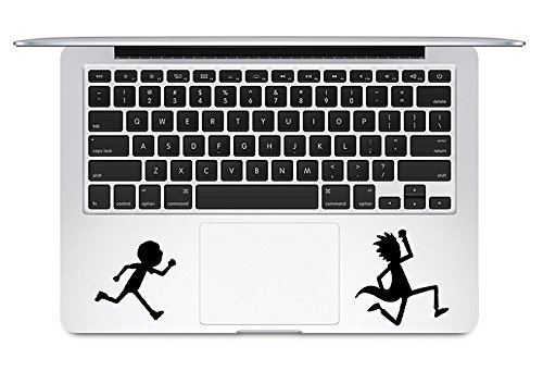 Trackpad Rick And Morty Running Apple Macbook Laptop Vinyl Sticker - Order Usps Track