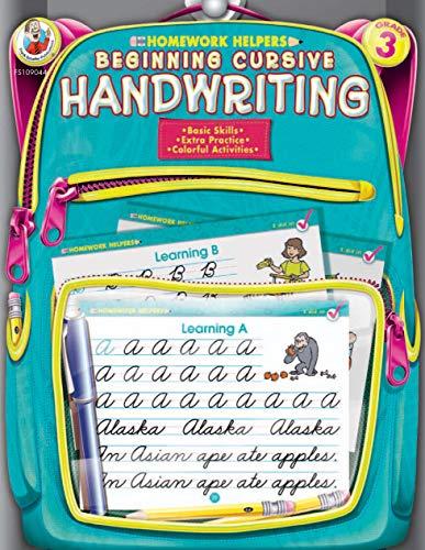 Beginning Cursive Handwriting Homework Helper, Grade 3