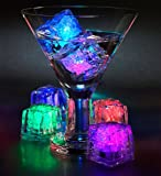 7 Color Changing LED Ice Cubes for Party (12 Pcs)