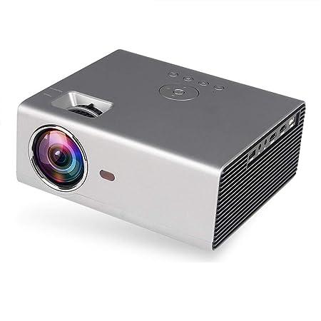 QLPP Proyector de 6800 lúmenes Mini proyector Portable de 1080P ...