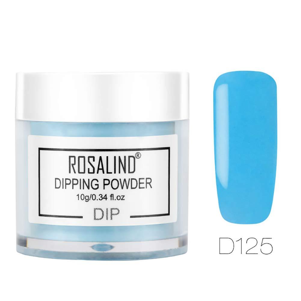 Taiguang Dipping Powder, 10ml DIY Nail Art Solid Color/Glitter Powder Nail Manicure Pigment 27#