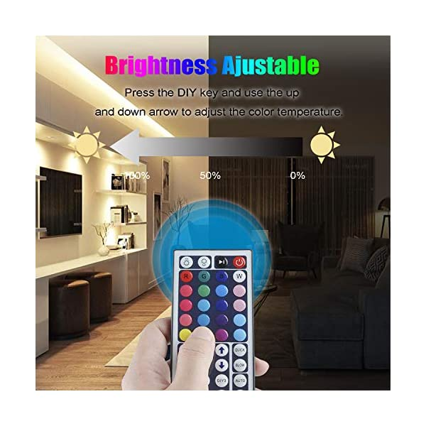 LED Strip Light, 16.4 ft Waterproof Music RGB 5050 Led Rope Lights Color Changing LED Light Strip Kit with Remote… 5