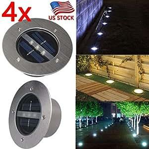 4X Waterproof Solar Light LED Square Underground Garden Yard Road Lawn Path Lamp