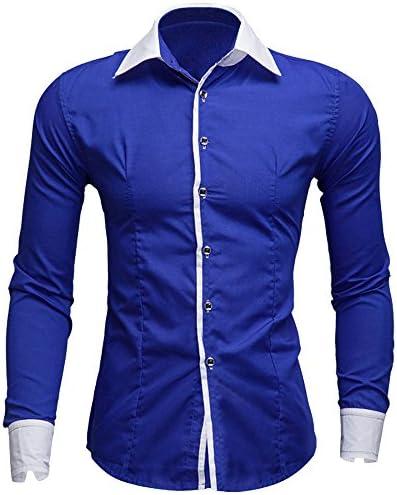 Rawdah_Camisas De Hombre Camisas De Hombre De Vestir Camisas De Hombre Blancas Camisas De Hombre Talla Grande Camisas Hombre Slim Camisas Hombre Manga Larga Camisas: Amazon.es: Ropa y accesorios