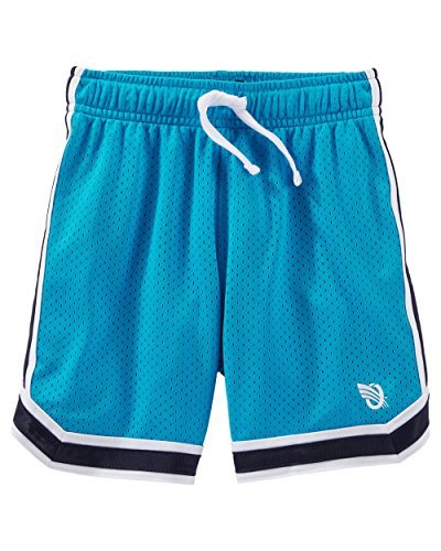 5 Kids OshKosh BGosh Little Boys Mesh Shorts Turquoise Navy Stripe