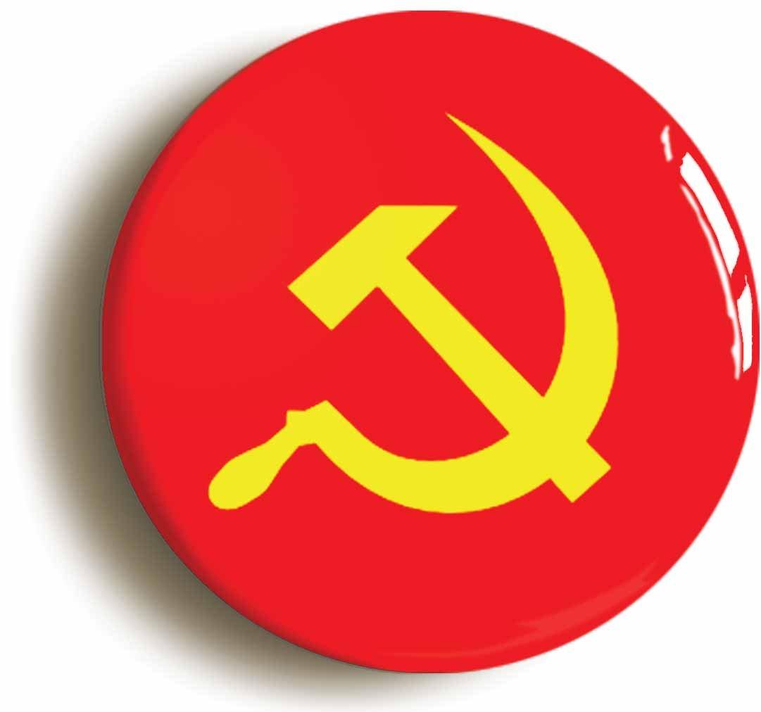 Amazon Communist Soviet Union Flag Retro Eighties Button Pin