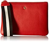 Frances Valentine Wristlet, Coral Leather