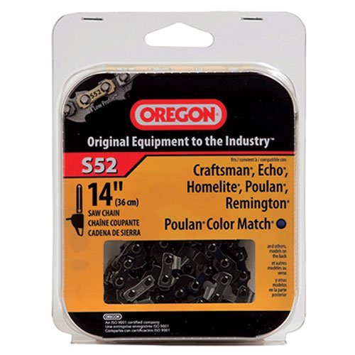 Oregon 14-Inch Chain Saw Chain Fits Craftsman, Echo, Homelite, Poulan, S52 (Oregon Saw Blades)