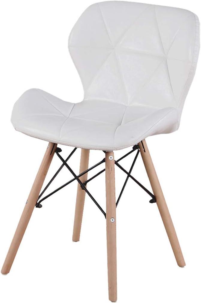 Set di 4 sedie da pranzo imbottite in poliuretano con poltrone a prua semplici sedie da salotto e ufficio bianco piedini in faggio e accessori per lhardware robuste strutture in metallo