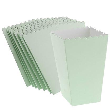24pcs Popcorn Carton Mermaid Paper Party Supplies Treat Box Holder for Birthday