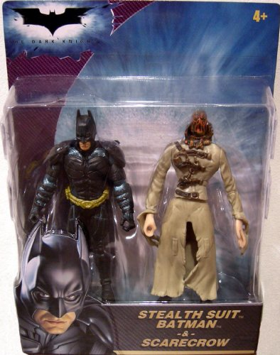 Batman the Dark Knight Stealth Suit Batman and Scarecrow [Toy] by Mattel (The Dark Knight Scarecrow)