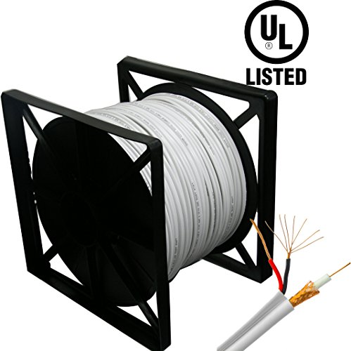 (HDView 500ft UL Listed Certified, 95% Copper Braid, Siamese Coaxial RG59 Cable Wire for CCTV HD (TVI/AHD/CVI/Analog) Security Camera, Combo Video & Power,, Pull Out Box)