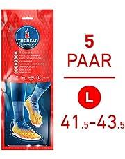 THE HEAT COMPANY Semelles Chauffantes - EXTRA CHAUD - 8 heures de chaleur - chaleur immédiate - autochauffante - purement naturel - LARGE Taille: 41,5-43,5 - 5 paires