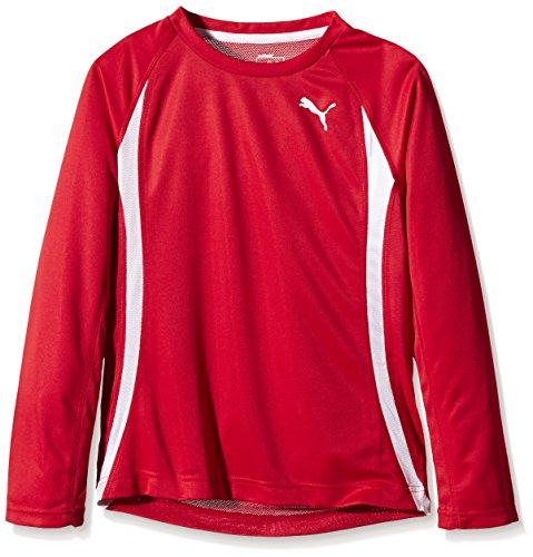 PUMA Shirt TB Running Long Sleeve Tee - Chaqueta de running para hombre puma rojo