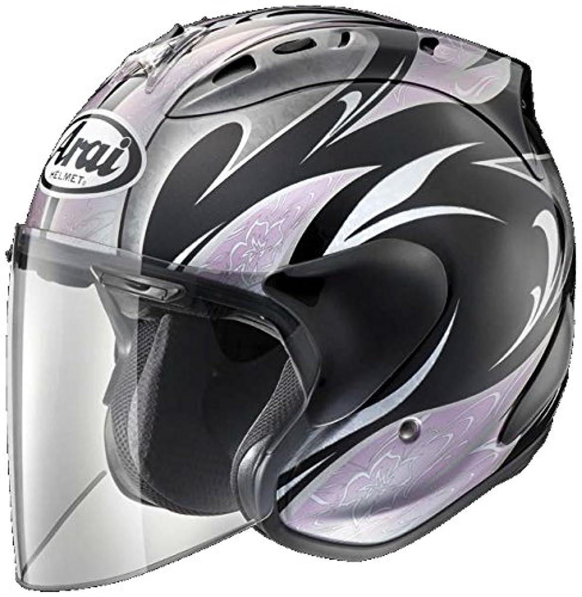 [해외] 아라이(ARAI 아라이 헬멧) 오토바이 헬멧 제트 SZ-RAM4 KAREN 블랙 핑크 S (55-56CM)
