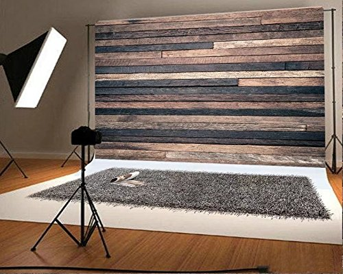 7x5 ft Retro Wood Wall Photo Backgrounds Brown Wooden Photography Backdrops Wrinkle free Seamless Cotton Cloth (Backdrop Wall)