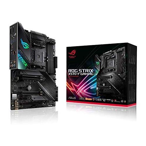 chollos oferta descuentos barato ASUS ROG Strix X570 F Gaming Placa Base Gaming AMD AM4 X570 ATX con PCIe 4 0 Aura Sync RGB led Intel Gigabit Ethernet Dual M 2 con disipadores SATA 6Gb s USB 3 2 Gen 2 soporta Ryzen 3000