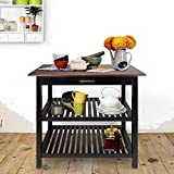 Casual Home Kitchen Island with Solid American