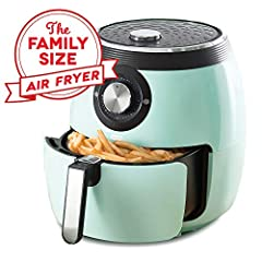 Reduce added fat by up to 80% - air frying eliminates the need for oil, reducing added fats by up to 80% as compared to traditional frying methods.6 quart Capacity - a greater Capacity can handle everything from individual meals to larger din...
