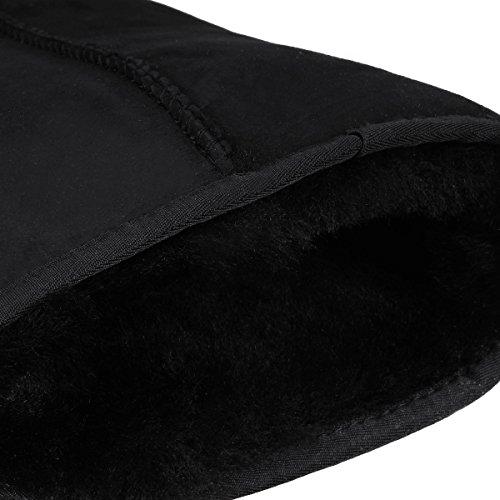 Lange Wollen Laarzen Van Stoere Australische Schapen In Zwart Zwart