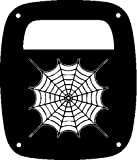 JeepTails Spider Web - Jeep TJ Wrangler Tail Lamp Covers - Black - Set of 2
