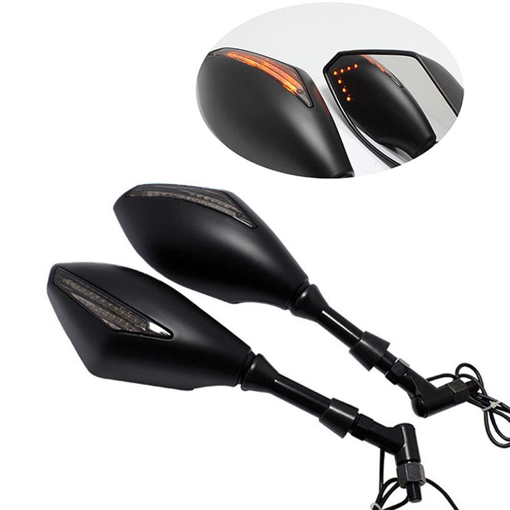 8MM 10MM Specchietti Retrovisori Moto Indicatori LED integrati Per Sport Bike Lady Outlet Mall