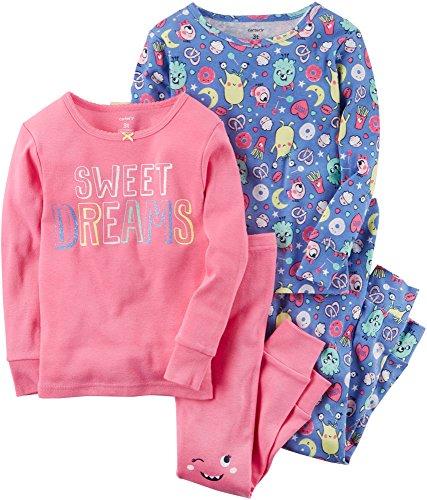 Carter's Baby Girls' 12M-24M 4 Piece Sweet Dreams Snug Fit Cotton PJS 12 Months