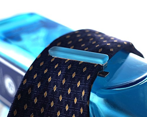 Blue Gin Bottle Tie Clip Made from Recycled Bombay Sapphire Bottle by Glassoholics