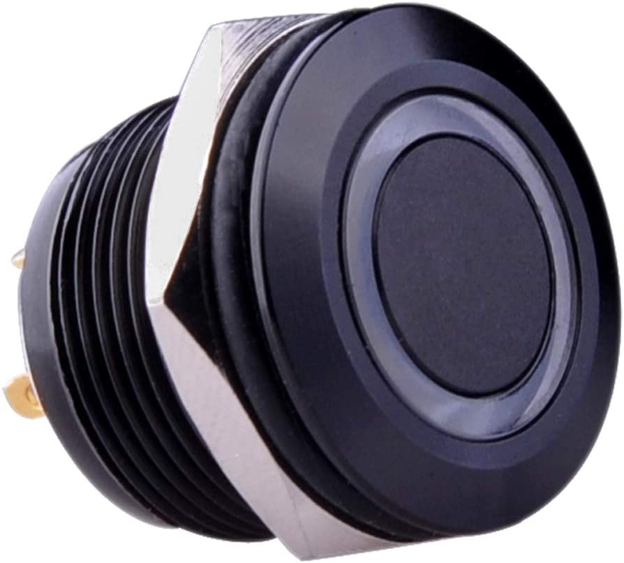 Black Metal Shell Orange Power LED Indicator Suitable For 19mm Button Switch