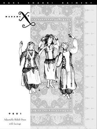 beledi dress pattern - 1
