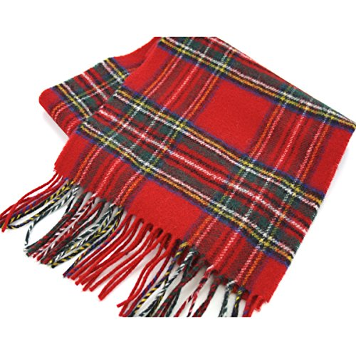 Royal Stewart Tartan (Brushed Wool Plaid Scarf Made in Scotland (Stewart)