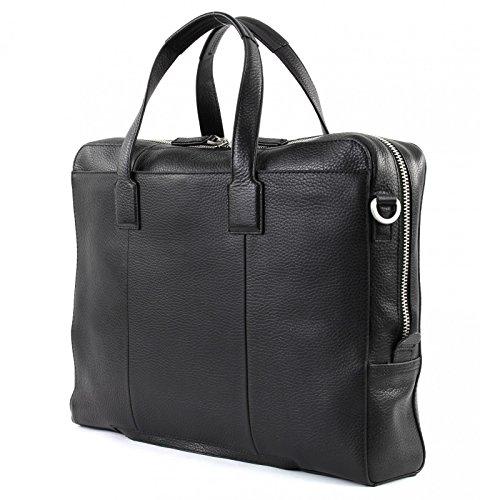 TOMMY HILFIGER Soft Leather Computer Bag Black