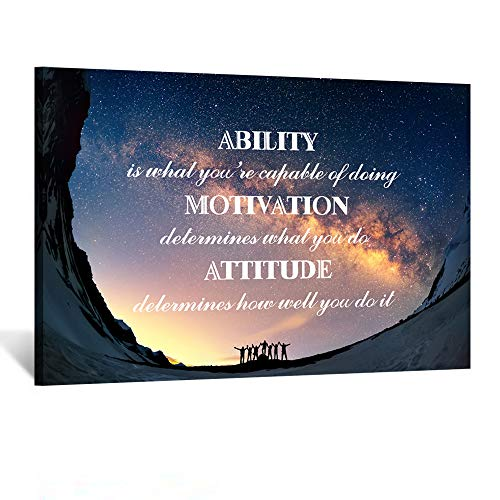 (Kreative Arts Large Canvas Quotes Wall Art Ability is What You're Capable of Doing Motivation Attitude Inspirational Saying Posters and Prints Home Decor Decals Family Words Quote Ready to Hang 24x36 )