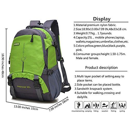 Maker 25L Wanderrucksack Sport im Freien Radfahren Rucksack Tasche Camping Rucksack Wasserdicht Leichte Rucksack (blau) grün Nt3u41ZQ