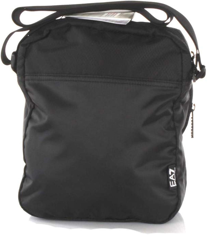 New Mens Ea7 Black Train Prime Polyester Cross Body Bag Bags