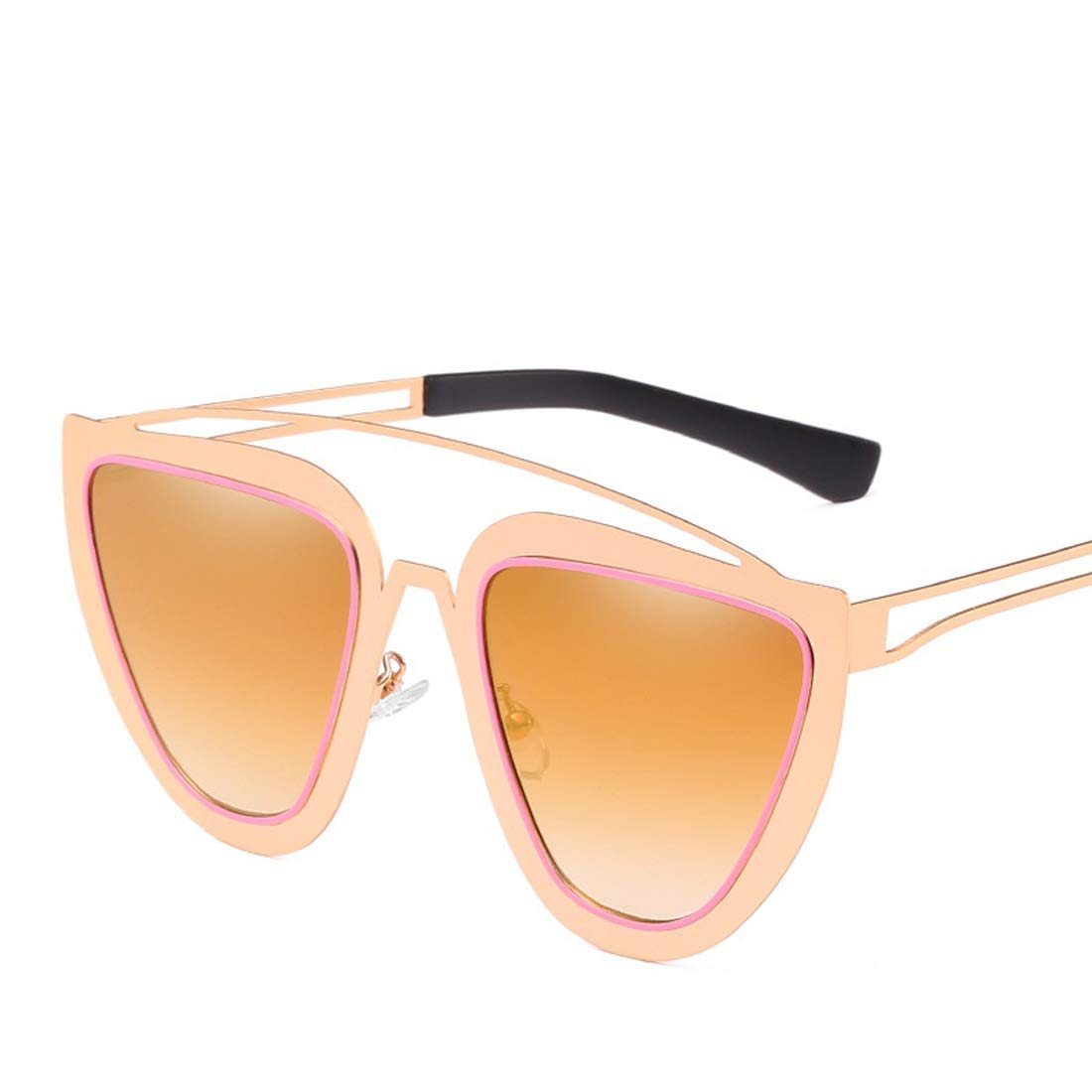 Wsunglass Fashion Cat Eye Sunglasses retro fashion ladies stainless steel sunglasses sunglasses the same batch/_2