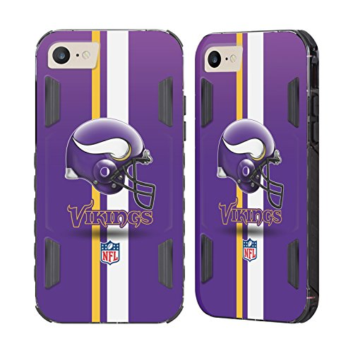 - Official NFL Helmet Minnesota Vikings Logo Black Evolution Case for Apple iPhone 7 / iPhone 8