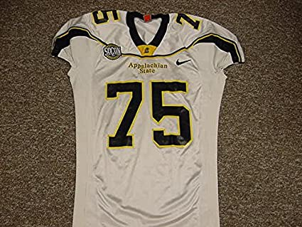 reputable site f9604 a5180 David Guy Appalachian State Mountaineers 2007 Game Worn Road ...