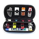 King of Flash Medium Portable EVA Travel Organiser For USB Flash Sticks, Memory Cards, Cables, Hard Drive & Mobile Phone Holder Black