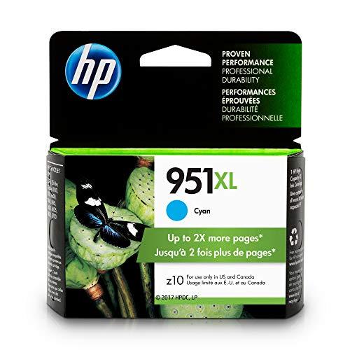 HP CN046AN#140  951XL Ink Cartridge, Cyan High Yield (CN046AN) for  Officejet Pro 251, 276, 8100, 8600, 8610, 8620, 8625, 8630 -