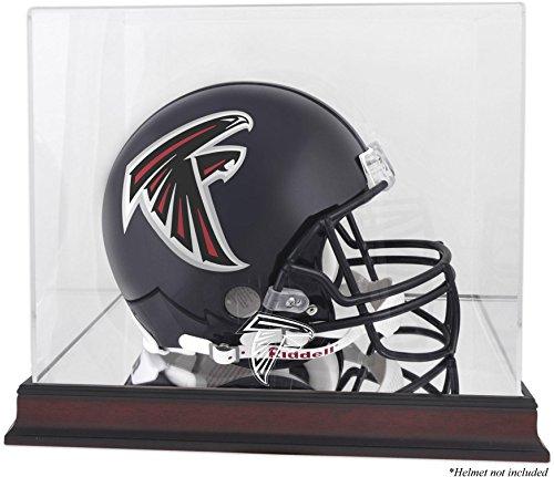 Atlanta Falcons Mahogany Helmet Logo Display Case and Mirror Bottom and Back