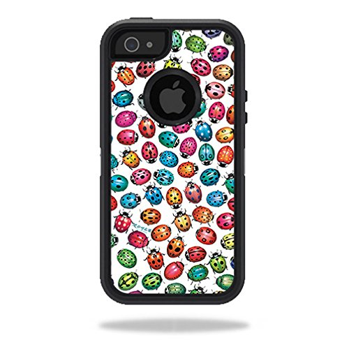 (MightySkins Skin for OtterBox Defender iPhone 5s case - Color Bugs | Protective, Durable, and Unique Vinyl Decal wrap Cover | Easy to Apply, Remove, and Change Styles | Made in The USA)