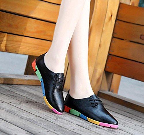 zapatos zapatos de los ascensor Black deporte primavera zapatillas zapatos otoño blancos La Sra y Sra casuales de vwR6YFFqX